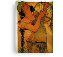 'Solome' by Alphonse Mucha (Reproduction) Canvas Print