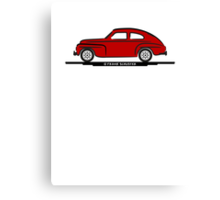 Volvo PV544 Red for Dark Shirts Canvas Print