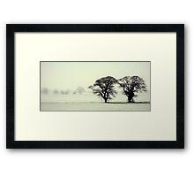Snowy Field ~ Framed Print