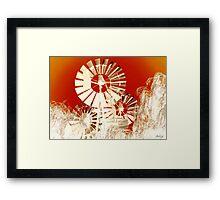 Windmills of My Mind Framed Print