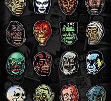 Horror Movie Monster Masks (color) by themonsterstore