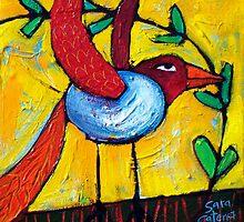 FLIGHT OF THE LOVEBIRD by ART PRINTS ONLINE         by artist SARA  CATENA