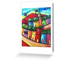 PLAYFUL WIND ON THE HILL Greeting Card