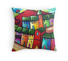 PLAYFUL WIND ON THE HILL Throw Pillow