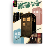 Doctor Who Vintage Comics Cover Canvas Print