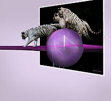 White tigers Escape by JackieFlaten