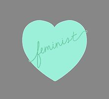 Feminist Heart (Mint) by adrianimation