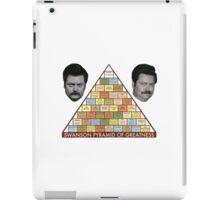 Swanson Pyramid of Greatness iPad Case/Skin