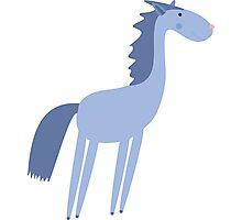 Cartoon horse Photographic Print