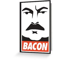 Ron Swanson: Bacon Greeting Card
