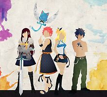 The Protagonists - Fairy Tail  by doubleu42