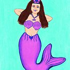 Purple Mermaid Princess by Paula Parker