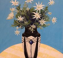 Flannel Flowers in a French Art Deco Vase by John Klein