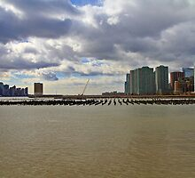 Lower Manhattan And Lower Jersey City On The Hudson Rv. by pmarella