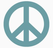 Cyan Peace Sign Symbol by popculture