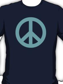Cyan Peace Sign Symbol T-Shirt
