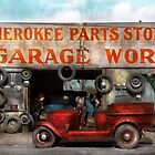 Car - Garage - Cherokee Parts Store - 1936 by Mike  Savad