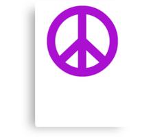 Purple Peace Sign Symbol Canvas Print