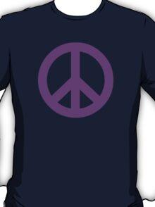 Purple Peace Sign Symbol T-Shirt