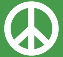 White Peace Sign Symbol by popculture