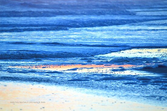 Atlantic Ocean Blue Beach | Smith Point, New York  by © Sophie W. Smith