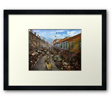 City - Baltimore MD - Traffic on light street - 1906 Framed Print