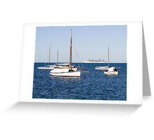 Sorrento Sailing Couta Boat Club Greeting Card
