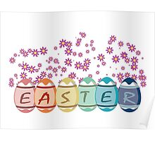 Colored Easter Eggs Poster