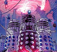 Daleks Earth Invasion: EXTERMINATE! Cool Nerdy Design - Doctor Who by markomellark