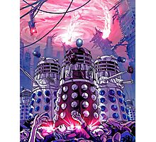 Daleks Earth Invasion: EXTERMINATE! Cool Nerdy Design - Doctor Who Photographic Print