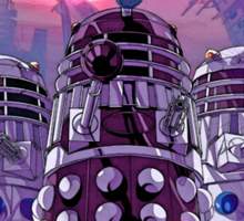 Daleks Earth Invasion: EXTERMINATE! Cool Nerdy Design - Doctor Who Sticker