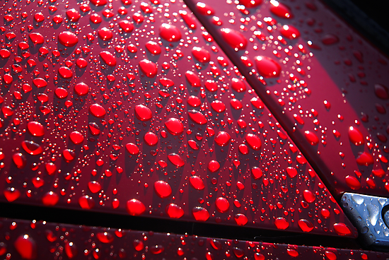 Drops on red.... by Billlee