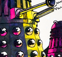 Daleks Warrior Fighting - The Time War Paint Doctor Who Sticker