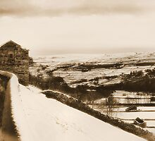 Albumen Swaledale in winter by clickinhistory