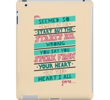 Blink 182 - Hearts all gone iPad Case/Skin