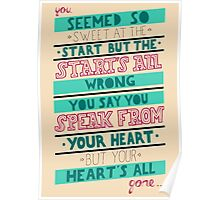 Blink 182 - Hearts all gone Poster