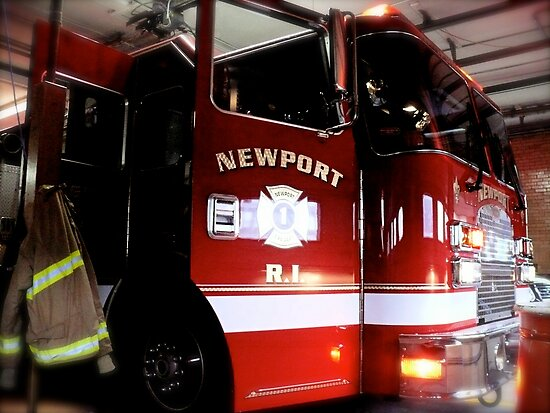 State of the Art Fire Engine in the Newport Fire Station by Jack McCabe