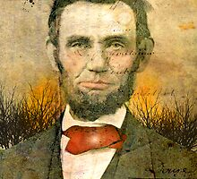 Lincoln with Red Tie by Jim Ferringer