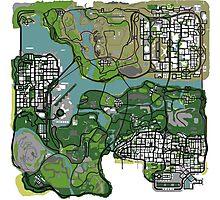 GTA Map Photographic Print