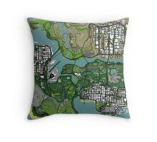 GTA Map Throw Pillow
