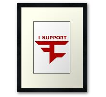 I Support FaZe Framed Print