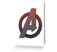 Celtic Avengers A logo, Black Outline, Red Gradient Fill Greeting Card