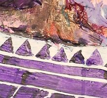 Acrylic Purple Triangle by ChrisDurrell