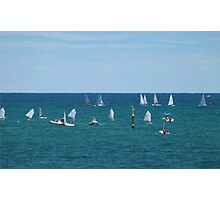 Biginners & Experienced! at West Beach. Adelaide Coast. Photographic Print