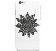 Sunflower Tribal Drawing iPhone Case/Skin
