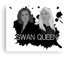 Regina and Emma - Swan Queen Canvas Print