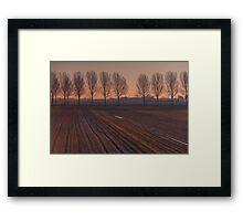 Velvet Sunset on Zen Road Framed Print