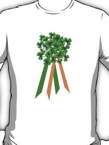 Large Shamrock on Tri-Colour Ribbon - St Patrick's Day T-Shirt