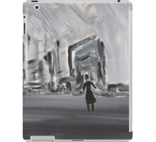 Black and White Abstract Cityscape, Dystopian Art  iPad Case/Skin