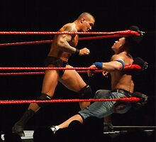 Randy Orton & John Cena by Dawn Palmerley